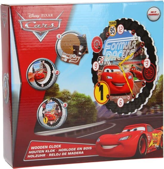Disney Kersttrui.Disney Pixar Cars Knutsel Je Eigen Houten Cars Klok