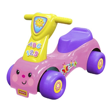 Fisher-Price loopwagen Lil' Scoot 'n Ride – roze/paars