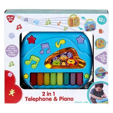 Playgo 2-in-1 telefoon en piano