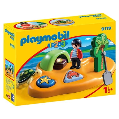 PLAYMOBIL 1.2.3 pirateneiland 9119