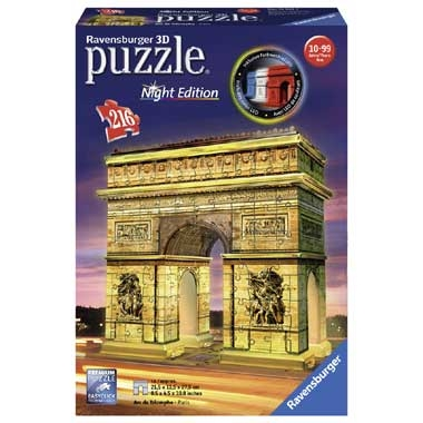 Ravensburger Arc de Triomphe by Night 3D-puzzel – 216 stukjes